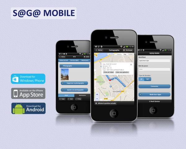 S@G@ mobile solution de mobilité pour l'éclairage public gmao